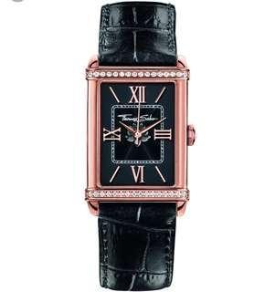 Thomas Sabo Century Black Leather Strap Watch