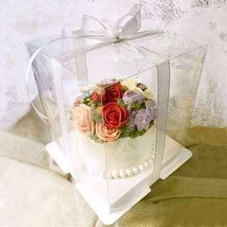 Cake box transparent 10, 12 inches (double tier)