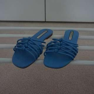 Zara Blue Sandals sz 37