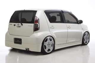 Japan Toyota Passo wald Rear Bumper