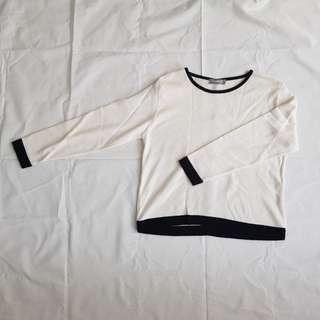 FLAG POINT CLUB Sweater wtih back detailing