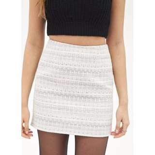 (NEW- SALE) Forever 21 Contemporary Zigzag Patterned Skirt
