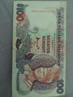 Nice series msia old 100 notes