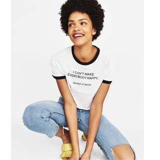 (3 for RM80) Bershka Slogan T-shirt