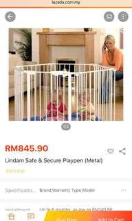 Lindam Safe and Secure Metal Playpen