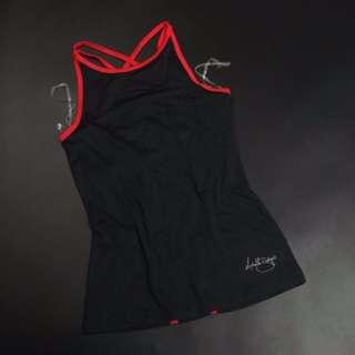 (NEW - SALE) Michelle Bridges Inspired Black / Red Yoga Gym Top