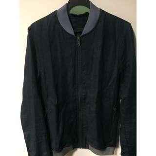 Zara men navy blue bomber