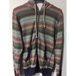 Uniqlo multi-striped hoodie