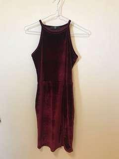 Misguided velvet dress size 8