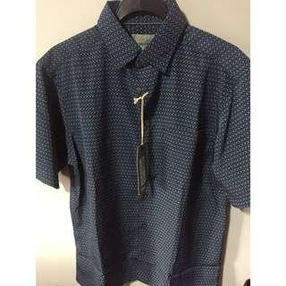 Marks & Spencer blue printed shirt