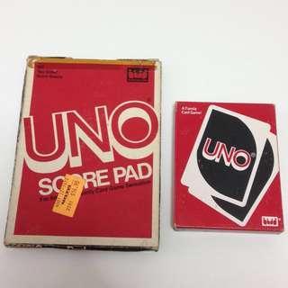 (包郵) UNO 牌及計分紙