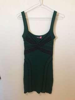 Forrest green soft bandage dress
