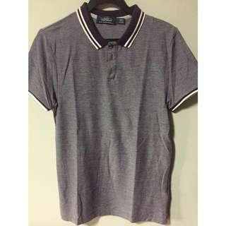 Topman purple polo tee
