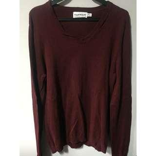 Topman burgundy sweater