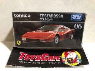 Tomica Premium Ferrari Testarossa red