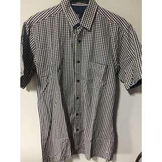 Cote opera blue checkered shirt