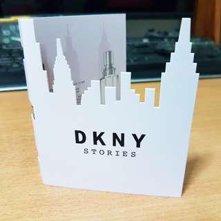 DKNY Story perfume sample very special unique design