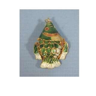 Cloisonne pendant articulated fish hand crafted in Beijing new