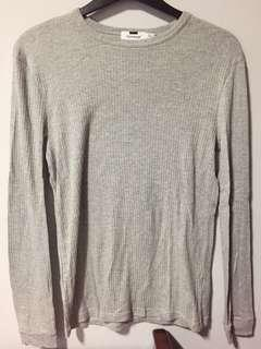 Topman long sleeve grey tee