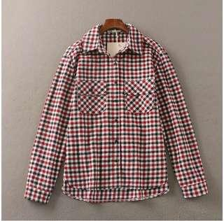 FREE POSTAGE CHECKERED LONG SLEEVE