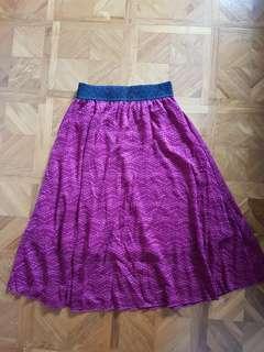 🚚 LuLaRoe XXS Wine Red Lace Lola Skirt