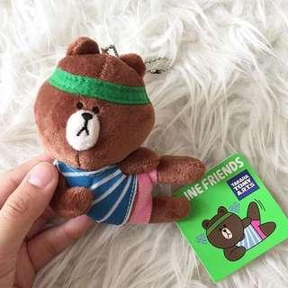 Line brown plush!