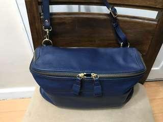Authentic Rabeanco Cube Large Leather Crossbody Shoulder Bag