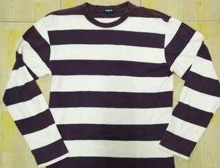Uniqlo Longsleeve Uniqlo big stripe dark purple