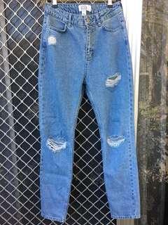 NA-KD high waisted mom jeans