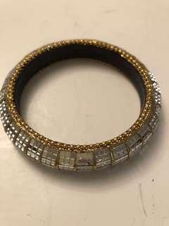 Vintage Crystal large bangle
