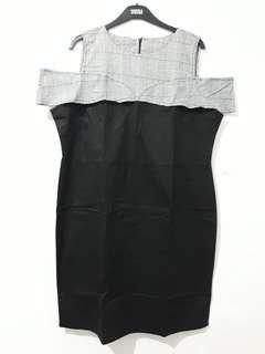 Dress cold shoulder bigsize