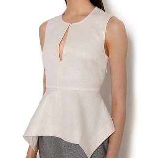 Elizabeth and James Yumi Keyhole Peplum Blouse / SMALL