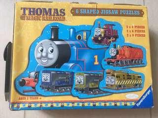 Thomas and the magic railroad - 6 shaped jigsaw puzzles
