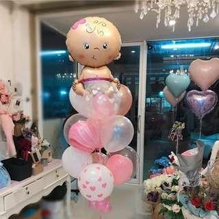 Baby balloons bunch