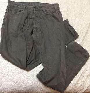 🚚 Carhartt 橄欖綠軍綠牛仔直筒長褲