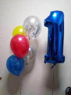 Number balloons set