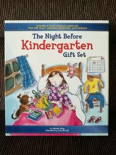 The Night Before Kindergarten gift set (book + stationery) #under90