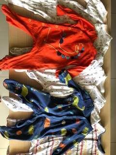 Bundle baby sleepsuits