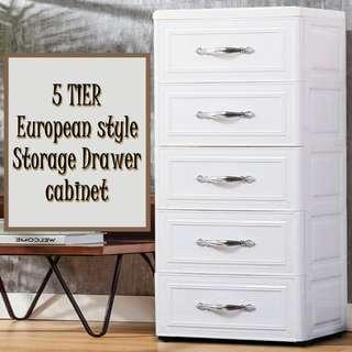 5 Tiers European Style Drawer Cabinet