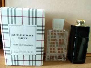Dior Addict &Burberry Brit