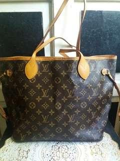 LV NEVERFULL BAG WITH CODE