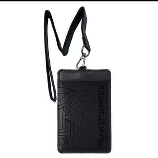 💯Authentic Transformers the Last Knight PU Lanyard with holder - Black color