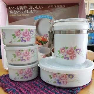 Multipurpose Ceramic Food Storage Container Set