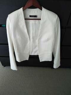 Brand new Glassons white blazer size 8
