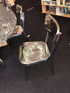 Chrome mirror finish chairs