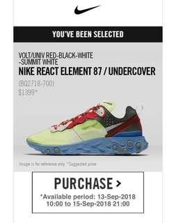Nike React Element 87 / Undercover