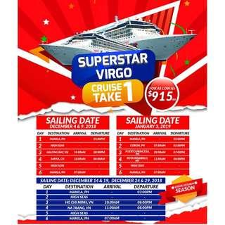 SUPERSTAR VIRGO HOLIDAY GET AWAY! CRUISE ONE TAKE ONE