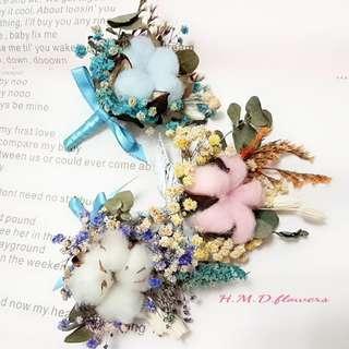 乾燥花 花束 婚禮小物 別針 胸花 手作素材 攝影道具 捧花 永生花 不凋花