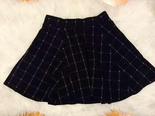 A line Grid Skirt