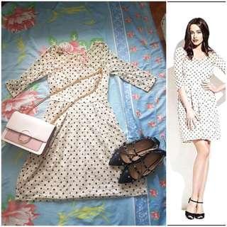 Sale at 99 today ONLY ..Basa po muna betsy jonhson polka lace dress medium